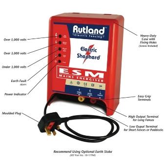 RUTLAND ESM 902 Mains Electric Fencing Fence Energiser 3 Year Warranty Fencer